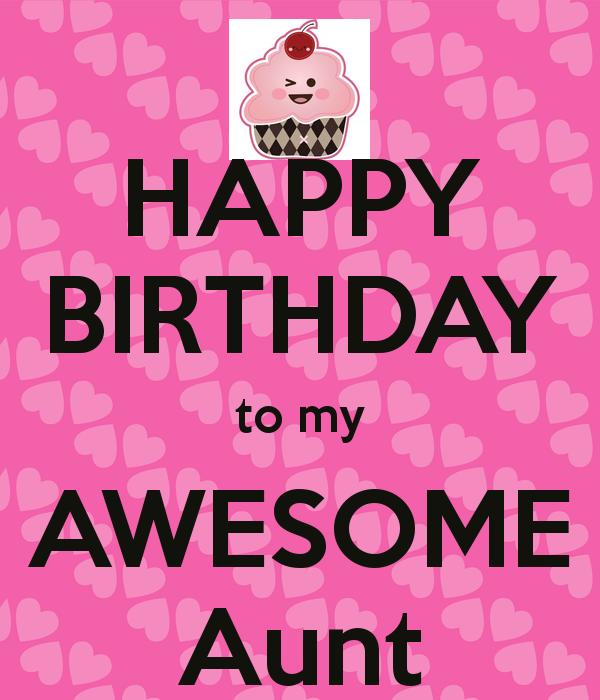Aunt, Happy Birthday And Birthdays