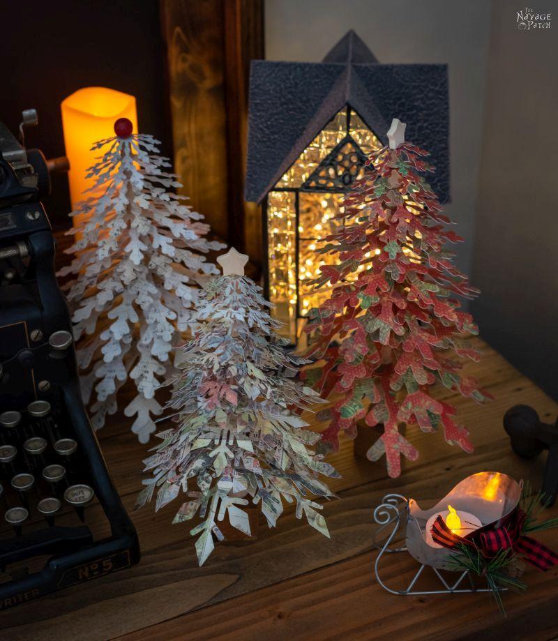 Diy Paper Snowflake Trees Christmas Tree Paper Craft Paper Snowflakes Diy Paper Snowflake Patterns