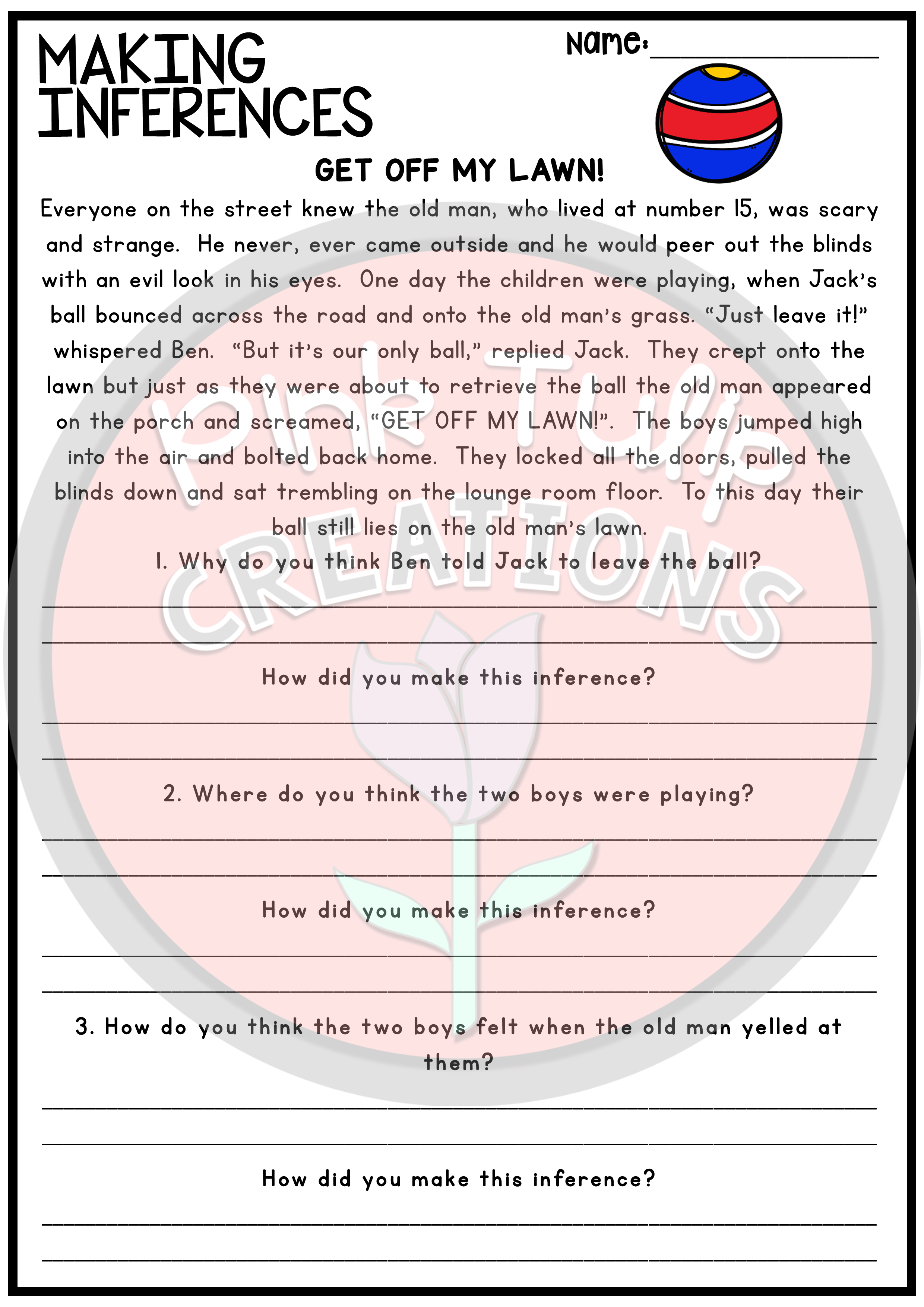 Making Inferences and Drawing Conclusions - Reading Worksheet Pack   Making  inferences [ 3508 x 2480 Pixel ]