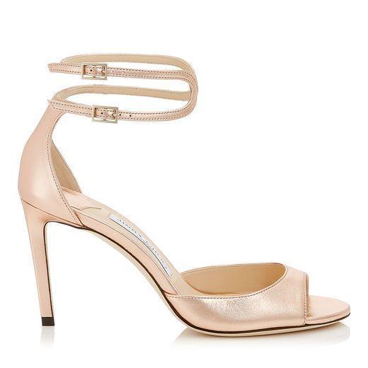 adfc7cda176 JIMMY CHOO LANE 85 Tea Rose Metallic Leather Sandals.  jimmychoo  shoes