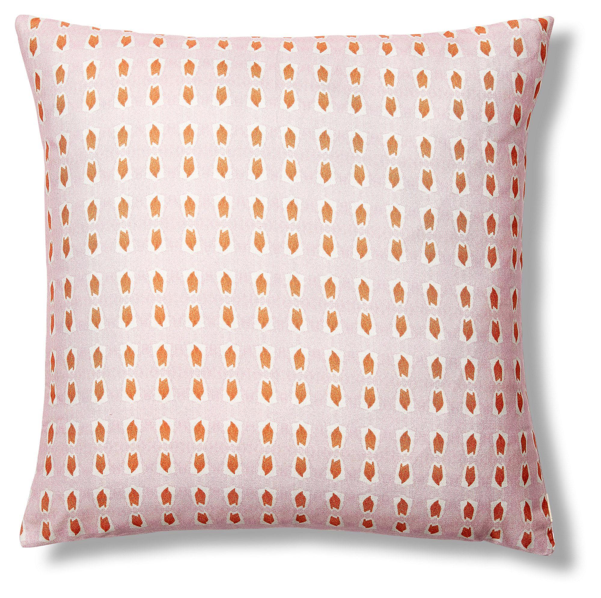 Picos 20x20 Pillow Pink Orange Pillows Decorative