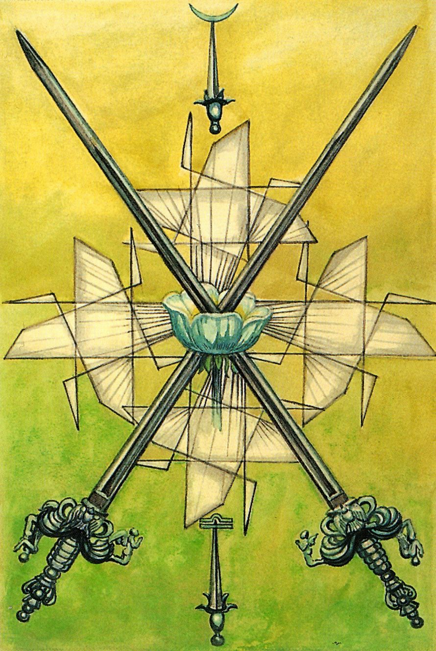 "Two of Swords - ""Peace"" (Thoth Tarot)"