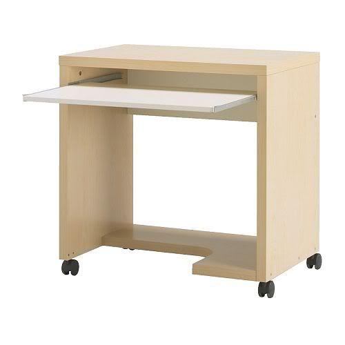 Ikea Mikael Birch Effect Computer Table With Casters Ikea Desk Ikea Au Pair Room
