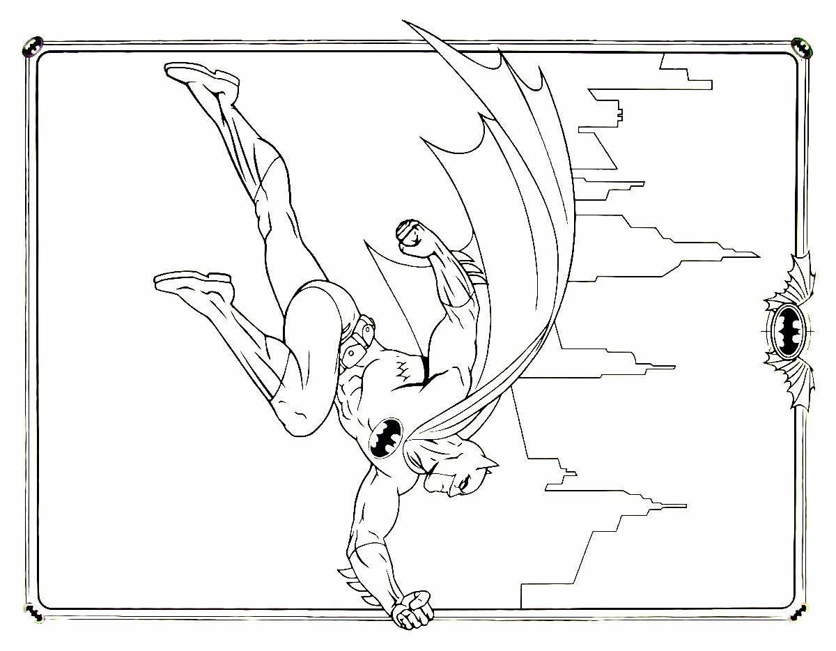 Batman Coloring Book Printable Page