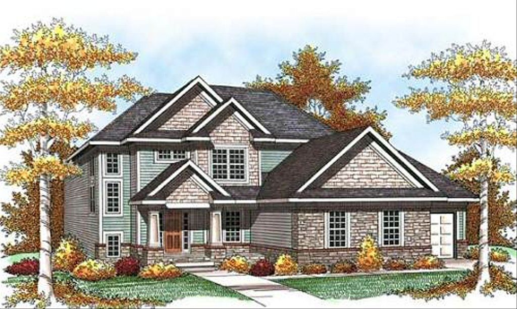 Craftsman Style House Plan 3 Beds 2 5 Baths 2074 Sq Ft Plan 70 933 Craftsman Style House Plans Country Style House Plans Craftsman House Plans