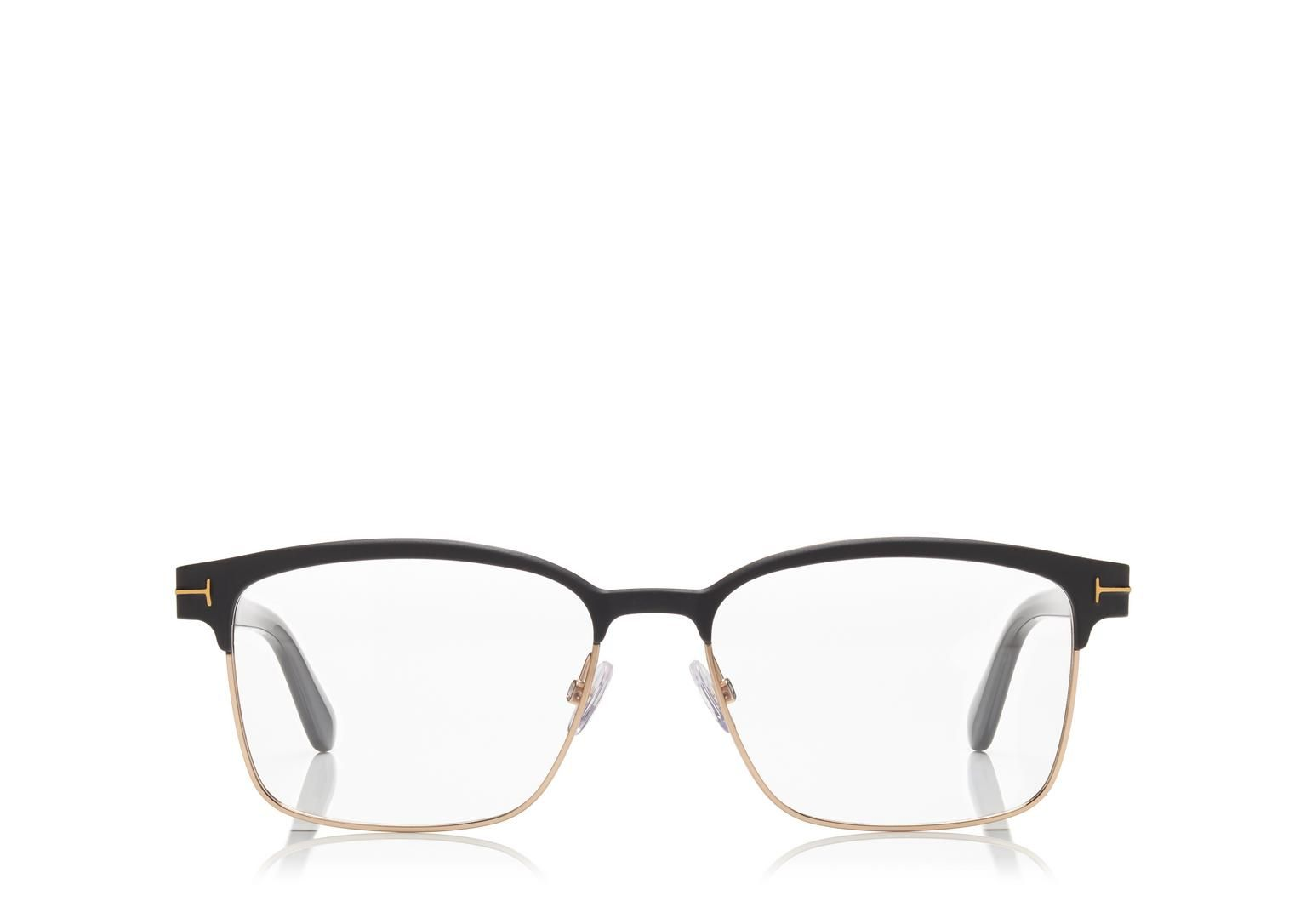 square metal optical frame shop tom ford online store