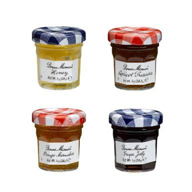 Bonne Maman Mixed (Honey, Apricot, Orange & Grape) Preserve Mini Jars - 1 oz x 60 pcs 4 - 15 Packs) - These could be cool to place on the table too - $114
