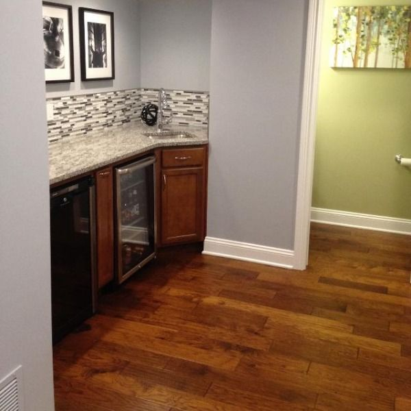 Finished Basement With SW6247 Krypton. A Great Color That