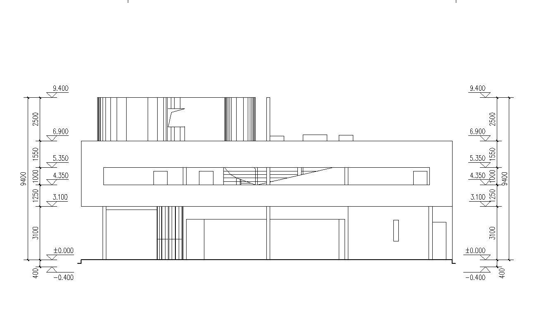 Villa Savoye Floor Plan Dwg Villa Savoye Le Corbusier Autocad Drawings Download