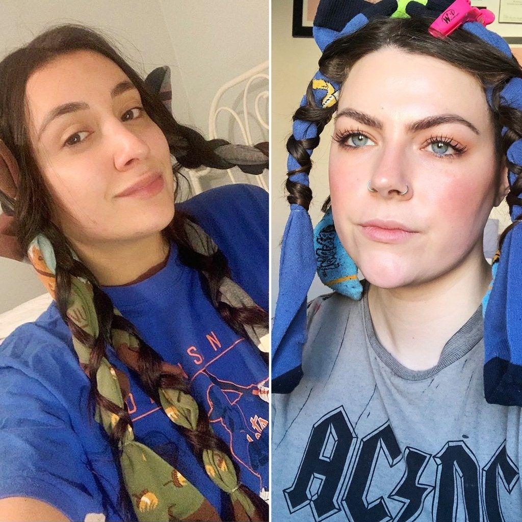 We Tried the Viral Sock Curling Hair Hack That People on TikTok Swear By
