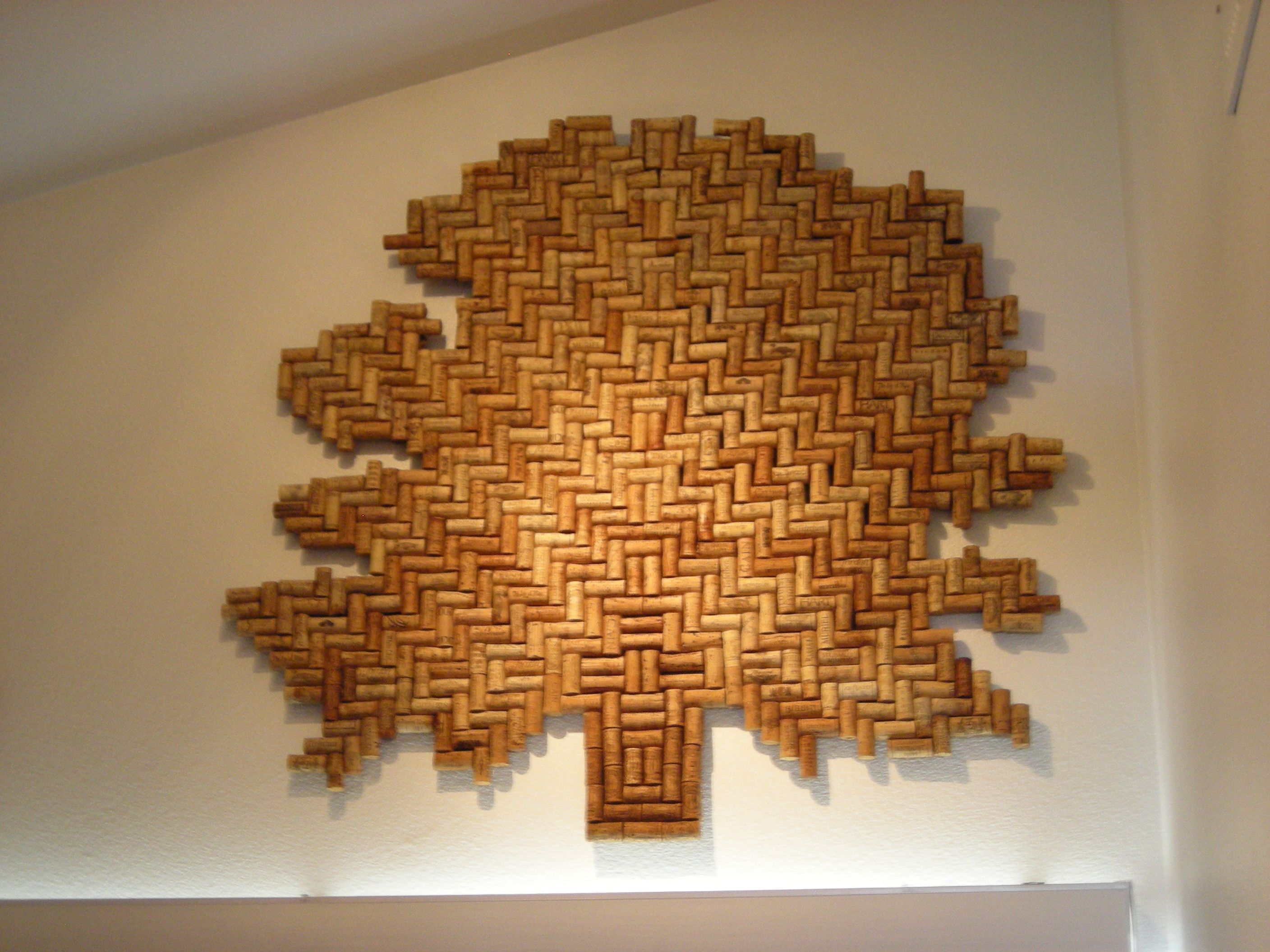 Crafts made with corks -  Wine Cork Wall Art Really Cool Tree Design Made From Used Corks