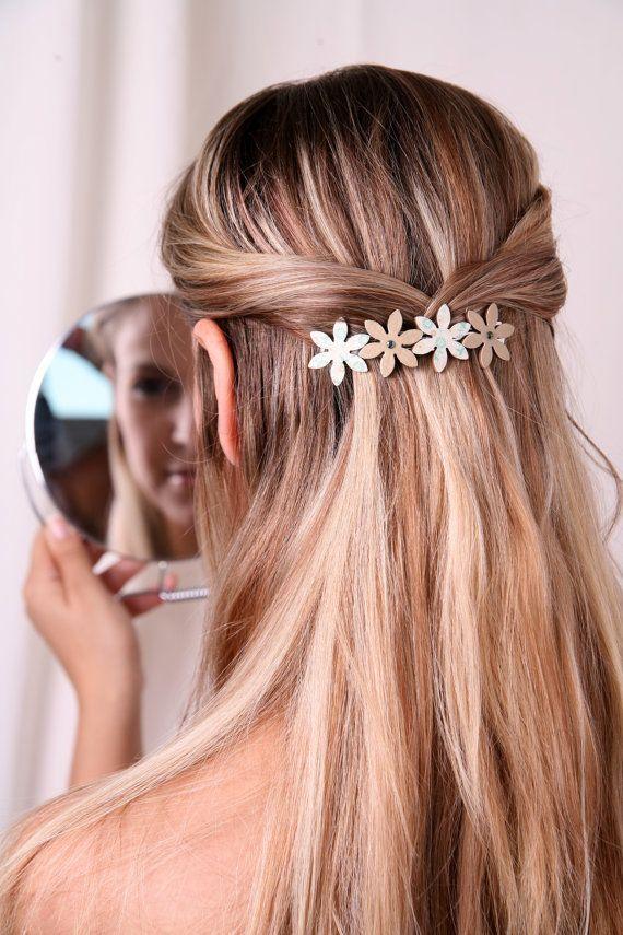 Flower Barrette By Flowerworksbysari Hair Inspiration Hair Styles Womens Hairstyles