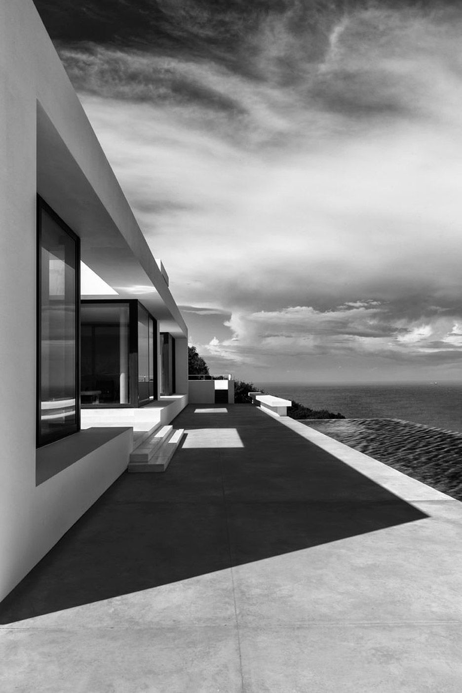 olivier dwek uses white walls to frame ionian sea views | house