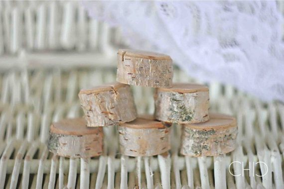 Rustic wedding name card holders wooden place card by MadeByChic, $24.00