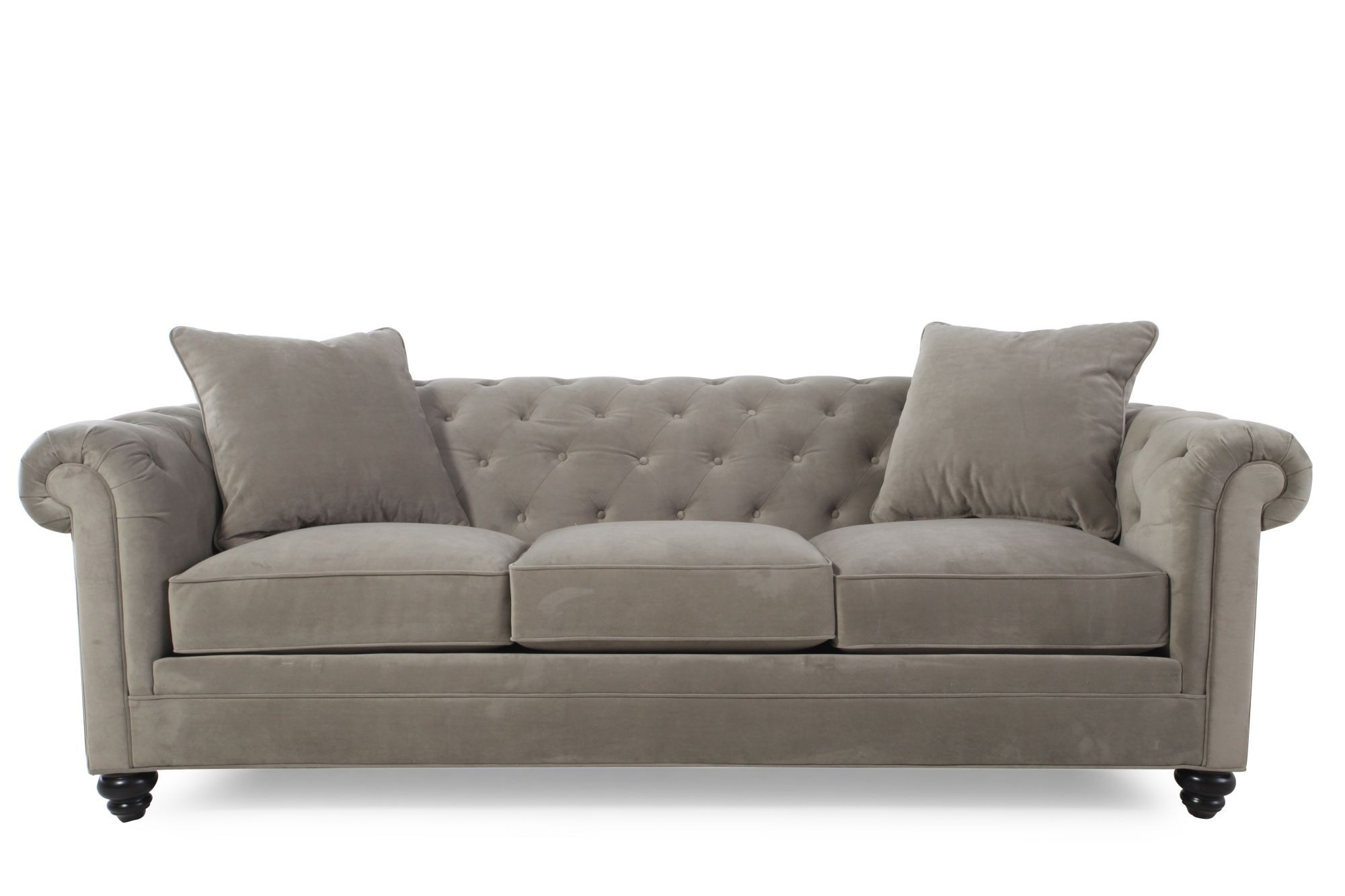 Jonathan Louis Bella Storm Sofa Mathis Brothers Furniture Sofa Grey Tufted Sofa Tufted Sofa