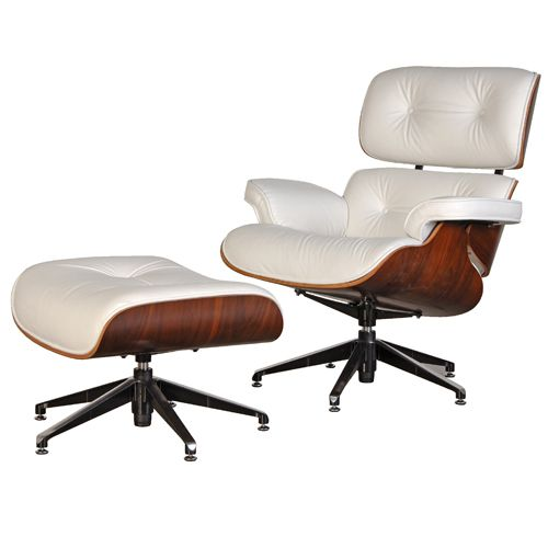 Herman Miller White Leather Eames Chair Eames Style Lounge Chair Eames Lounge Chair White White Eames Chair