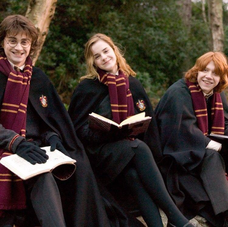 Golden Trio Harry Potter Movies Harry Potter Films Harry Potter Tumblr
