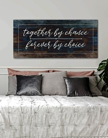 Couples Wall Art: Together by Chance Forever by Choice (Wood Frame Ready To Hang) images