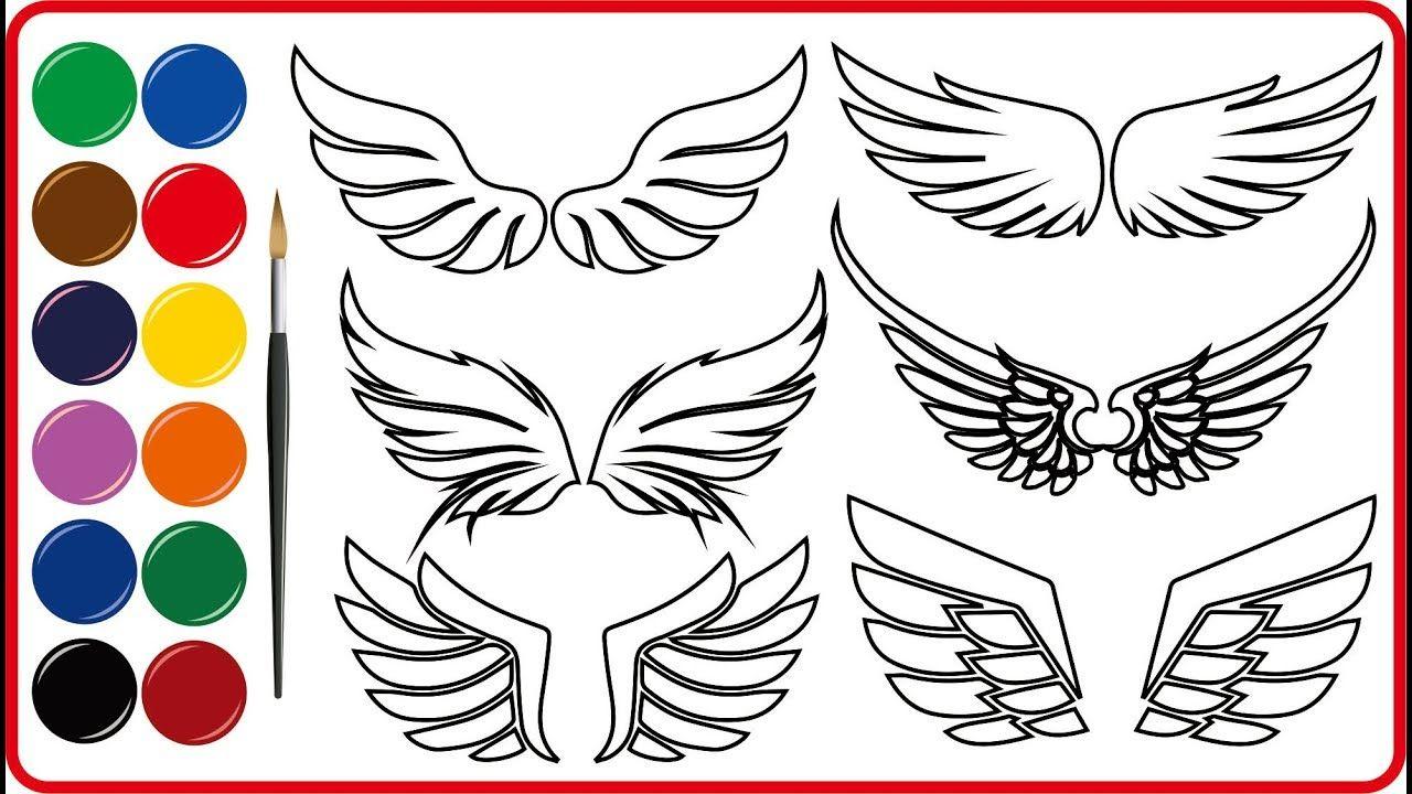 Menggambar Dan Mewarnai Sayap Malaikat