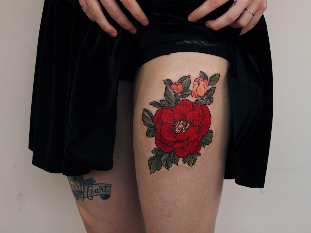 Jinpil yuu thigh tattoos women elbow tattoos tattoos