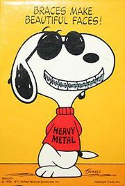 Braces Make Beautiful Faces! photo taken by Viola, at a #dental clinic #Snoopy #Peanuts