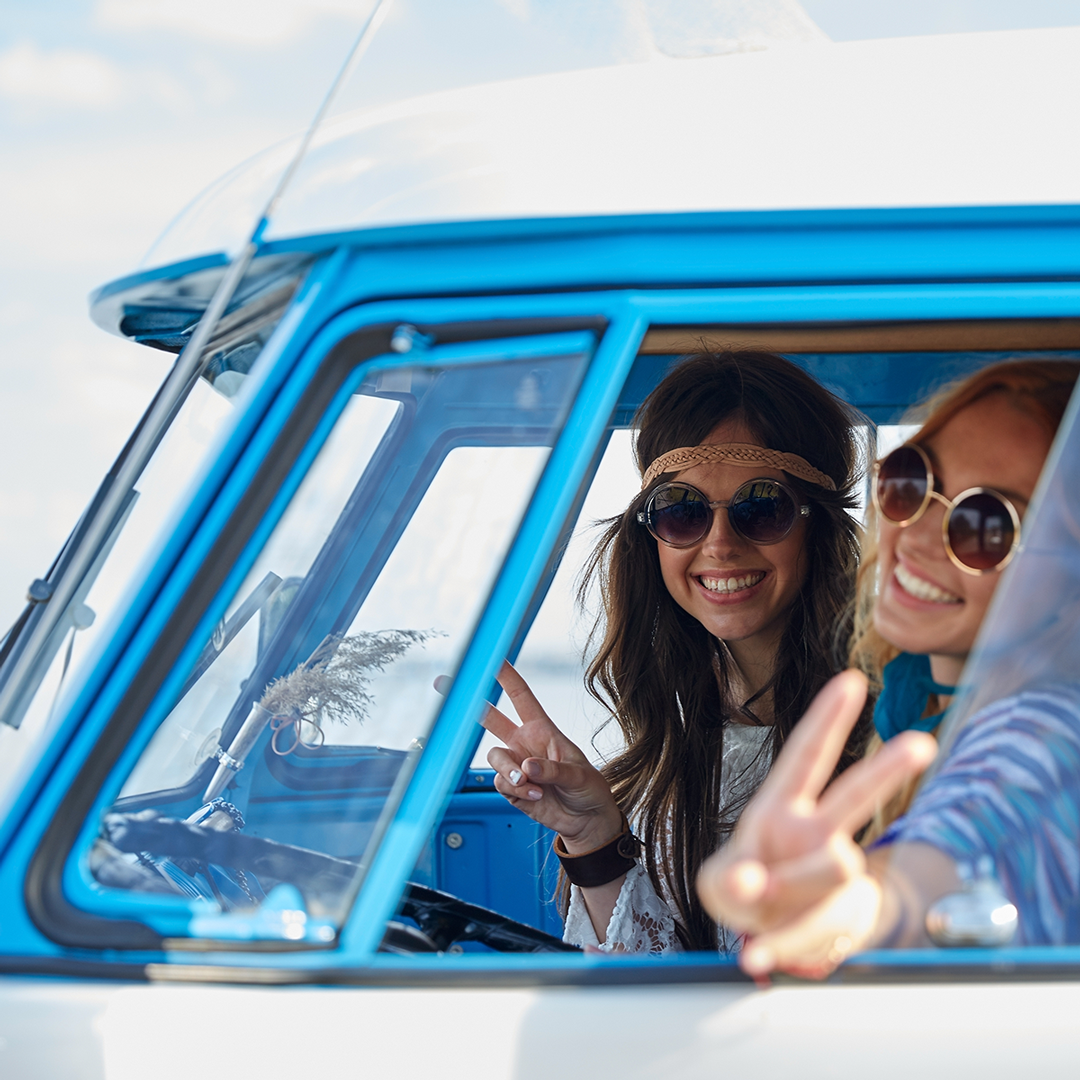 Up to this day, the original Volkswagen Microbus is being associated with the hippie movement of the 1960s and has become a symbol for the freedom to travel independently.