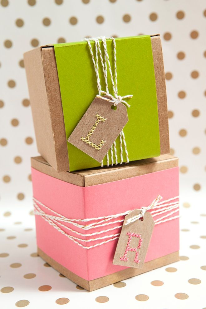 Easily cross-stitch alphabet gift tags with these steps and free pattern!