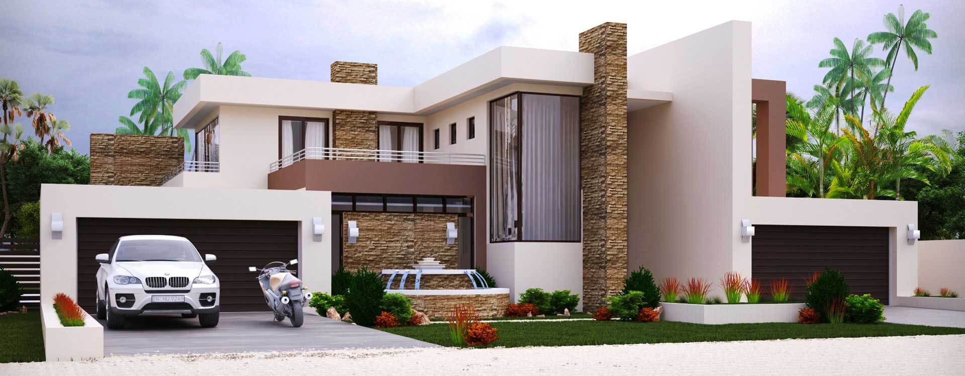 Contemporary 4 Bedroom House Plan 497m2 This 4 Bedroom House Plan Features The Follow In 2020 Double Storey House Plans House Plans For Sale House Plans South Africa