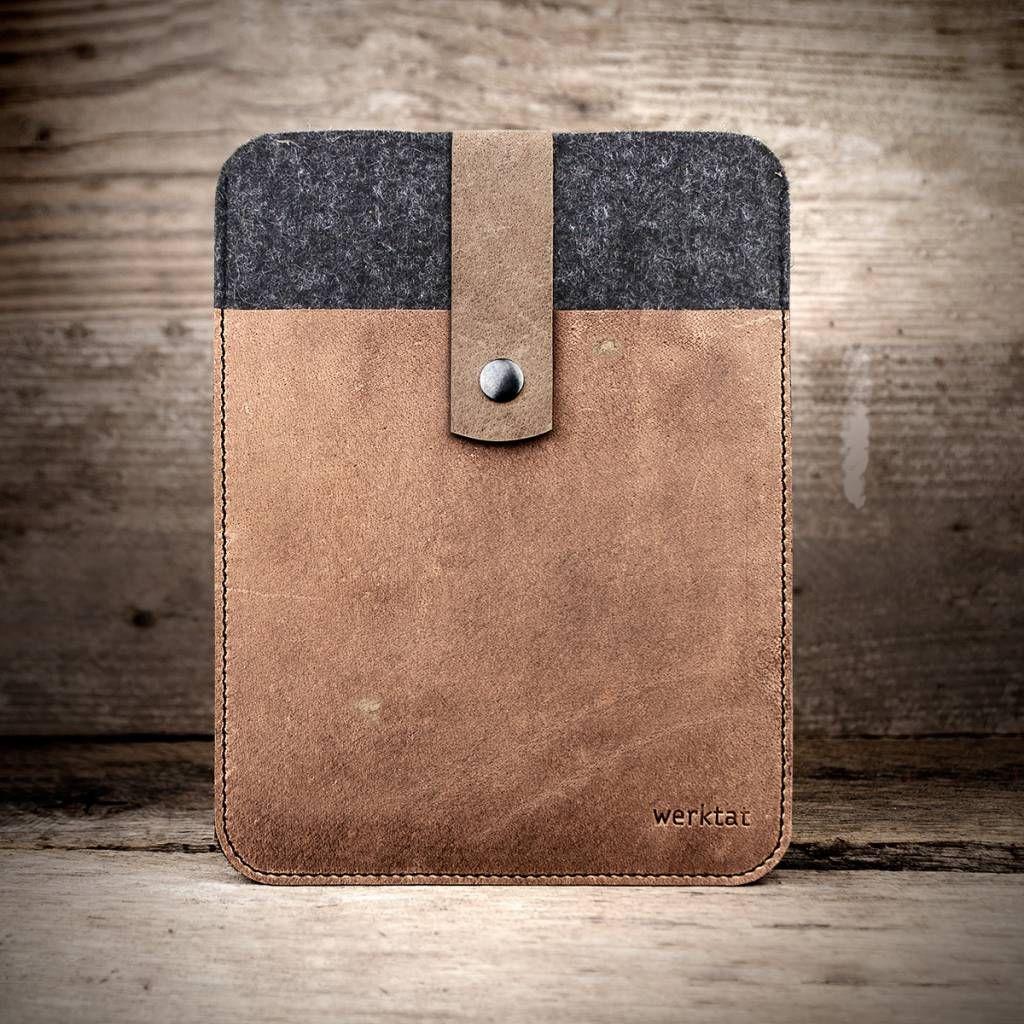 5b6cc144ebf08 iPad Pro 10.5 12.9 Tasche Leder Filz Filztasche Ledertasche Lederhülle  Filzhülle Hülle. Feinster Wollfilz und