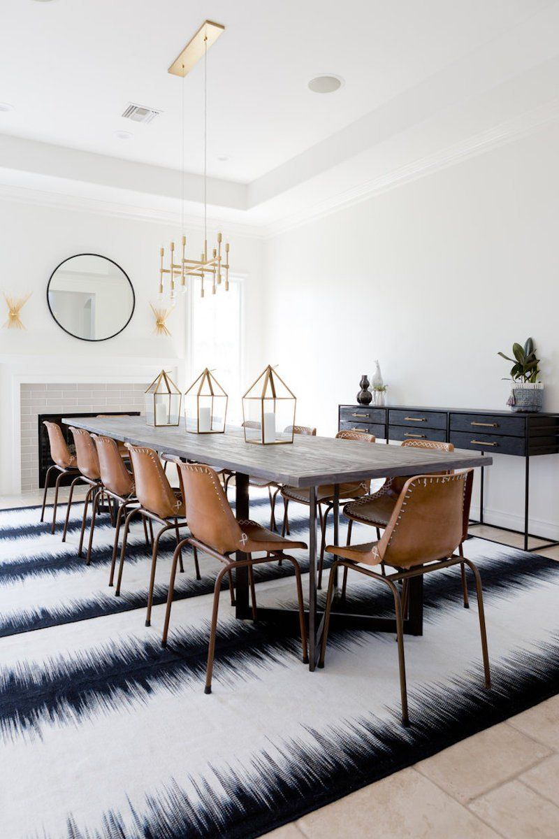 d8e7d9615bc7 We love how this modern bohemian dining room is simple yet chic!