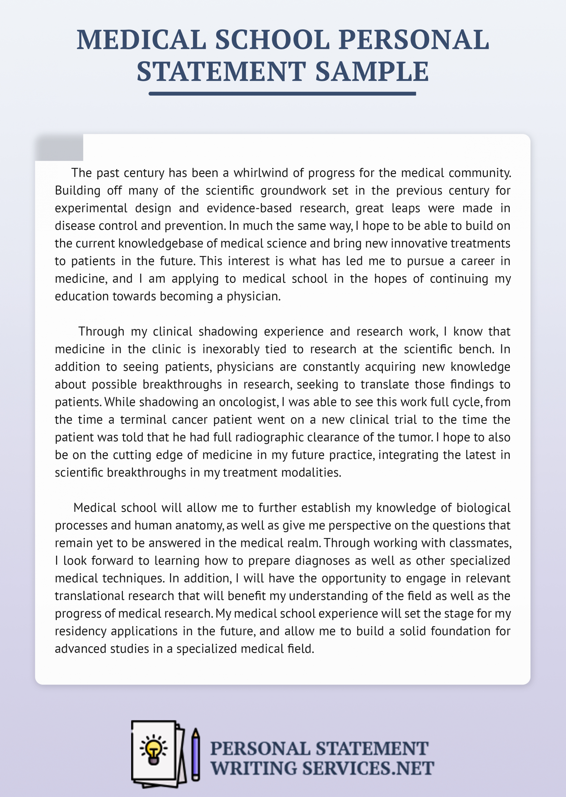 Personal Statement Letter Example Lovely Great Sample Variou Maj Medical School American University Law