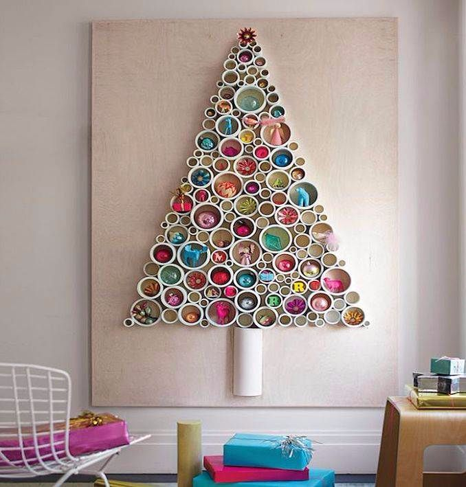 32 ARTIFICIAL WALL CHRISTMAS TREE INSPIRATIONS