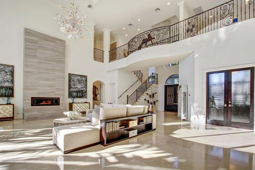 47 Beautiful Living Rooms Interior Design Pictures High Ceiling Living Room Chandelier In Living Room High Ceiling Decorating