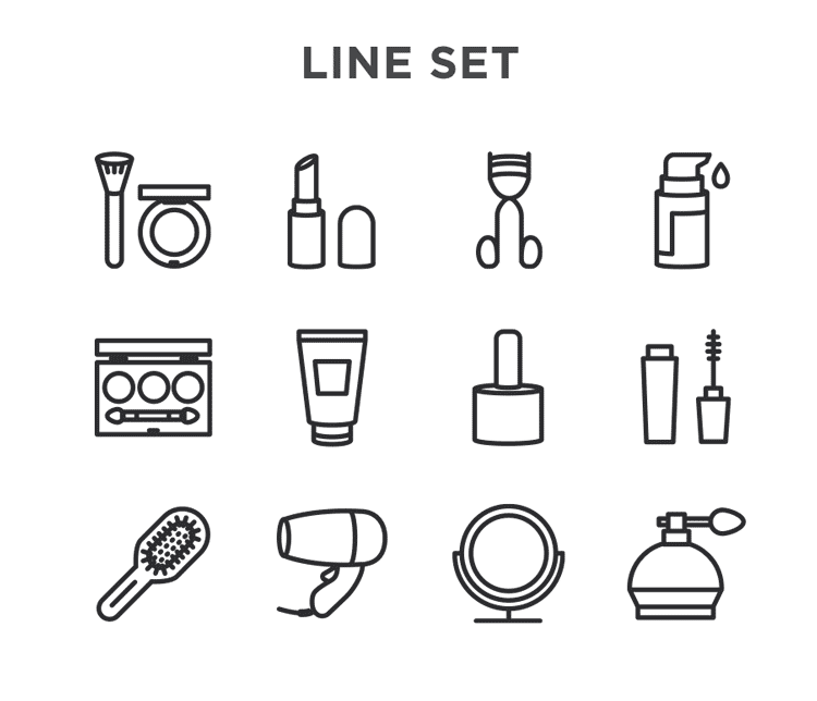 Makeup Free Vector Icons Designed By Istar Design Bureau Makeup Drawing Vector Icon Design Makeup Icons