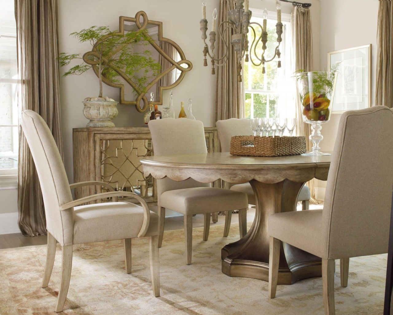 Hooker Furniture Sanctuary 2 Door Mirrored Console 301385002 Captivating Clearance Dining Room Sets 2018
