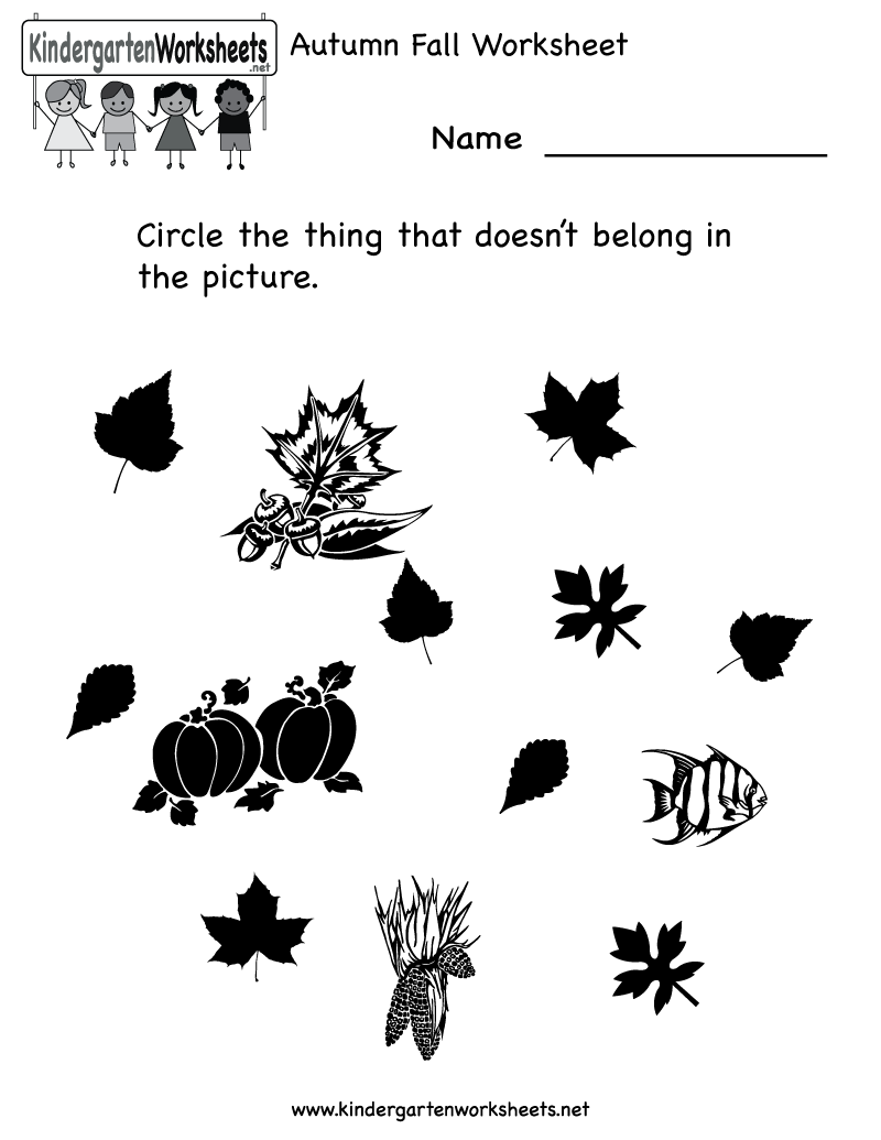 worksheet Fall Worksheets For Preschool 1000 images about autumnfall worksheets on pinterest number words life cycles and fall coloring pages