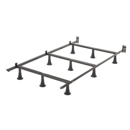 twin size 9 leg metal bed frame with headboard brackets - Twin Size Metal Bed Frame