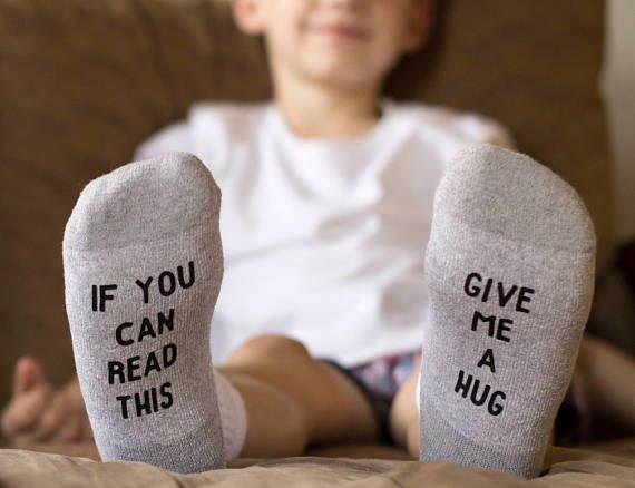 If You Can Read This Socks Kids Give Me A Hug Funny Socks Kids Socks Cute Slippers Cool Socks