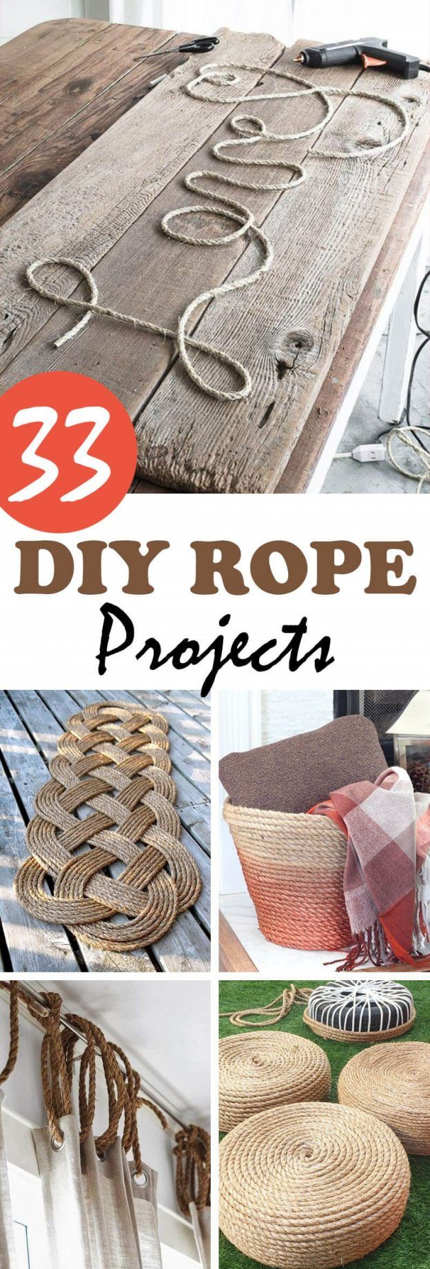 Do It Yourself Home Design: 33 Crafty And Creative DIY Rope Projects That You'll