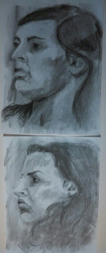 25 minute portrait drawings from my senior year at IU.