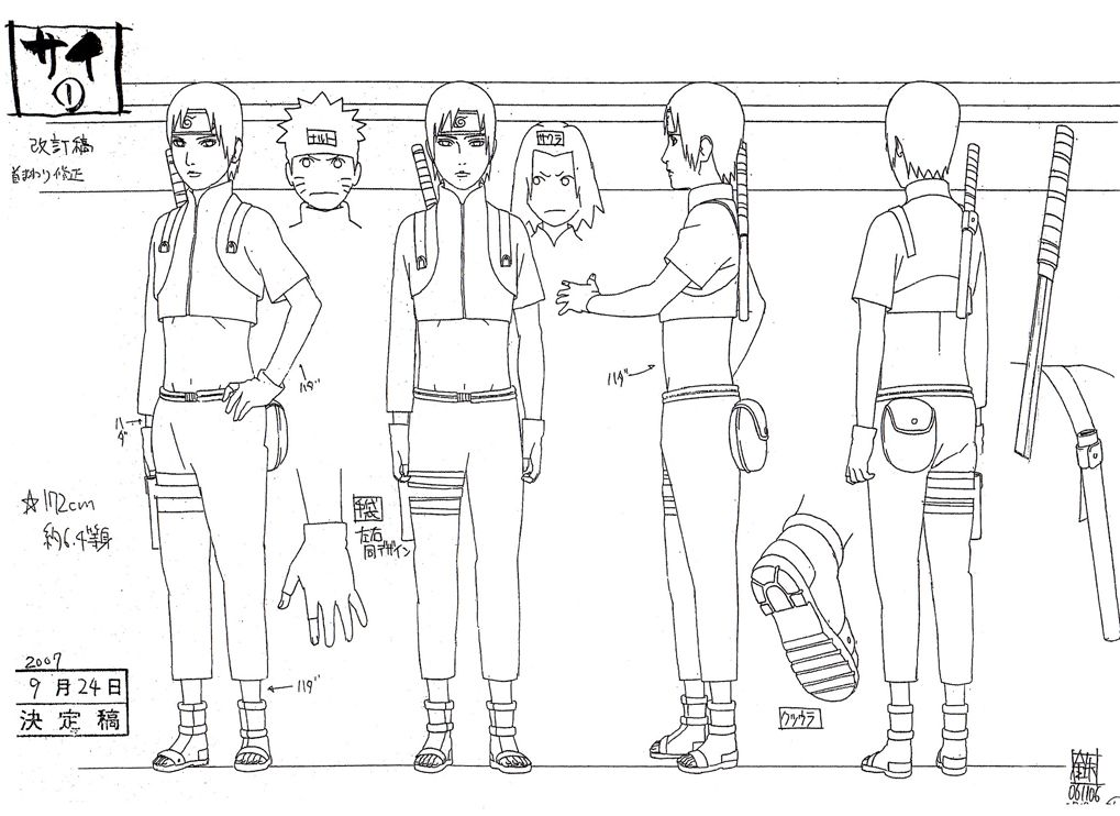 Character Design References Pdf : Sai reference sheet manga tutorials pinterest naruto