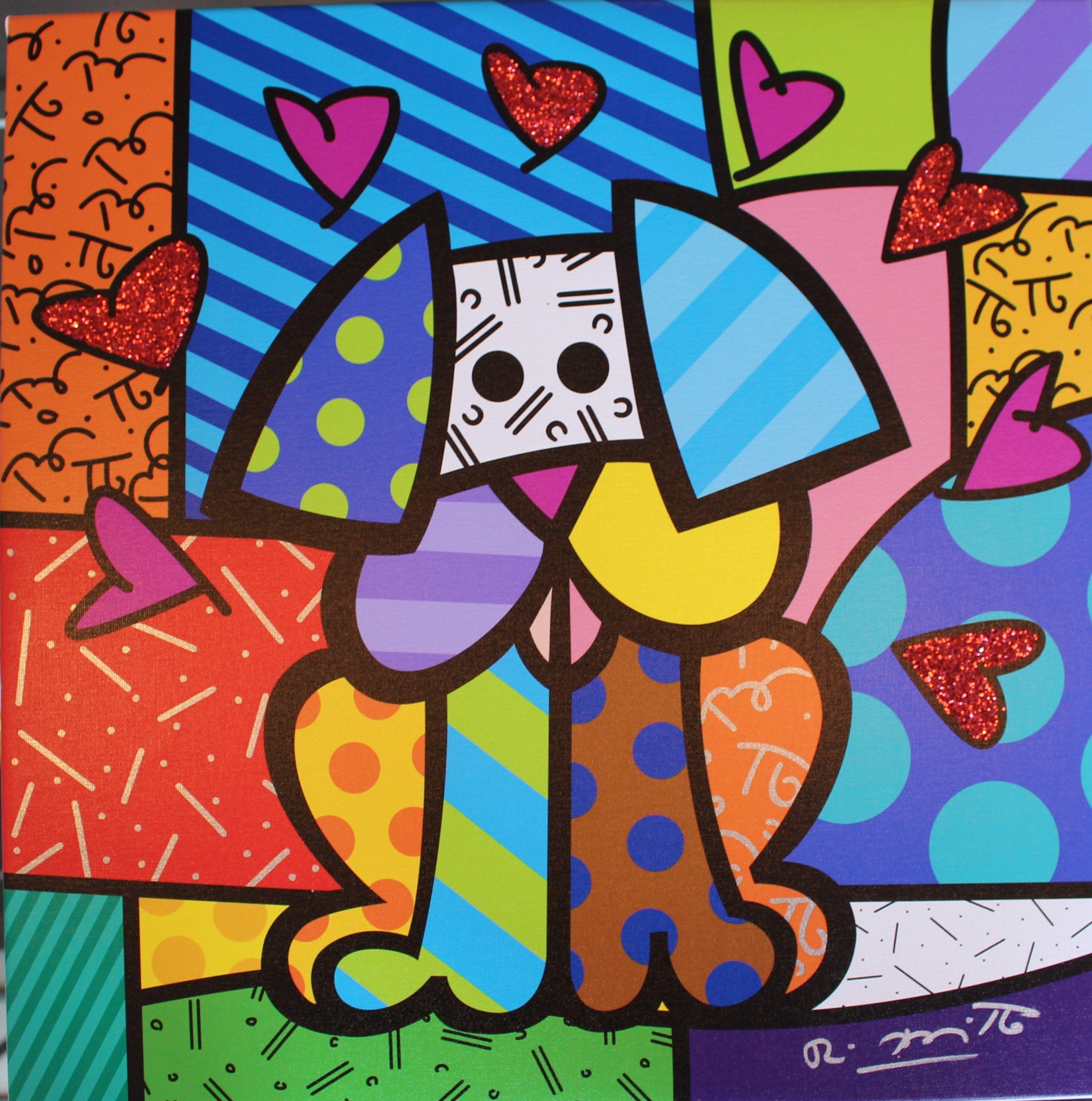 Romero Britto True Love Britto Art Colorful Art Romero Britto Art