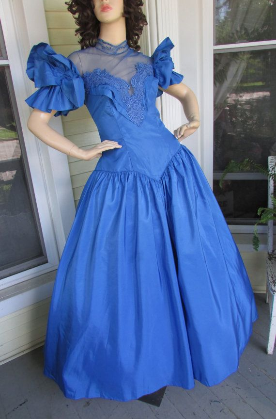 Vintage 80 S Blue Bridesmaid Dress Prom Dresses Vintage Dresses Bad Bridesmaid Dresses