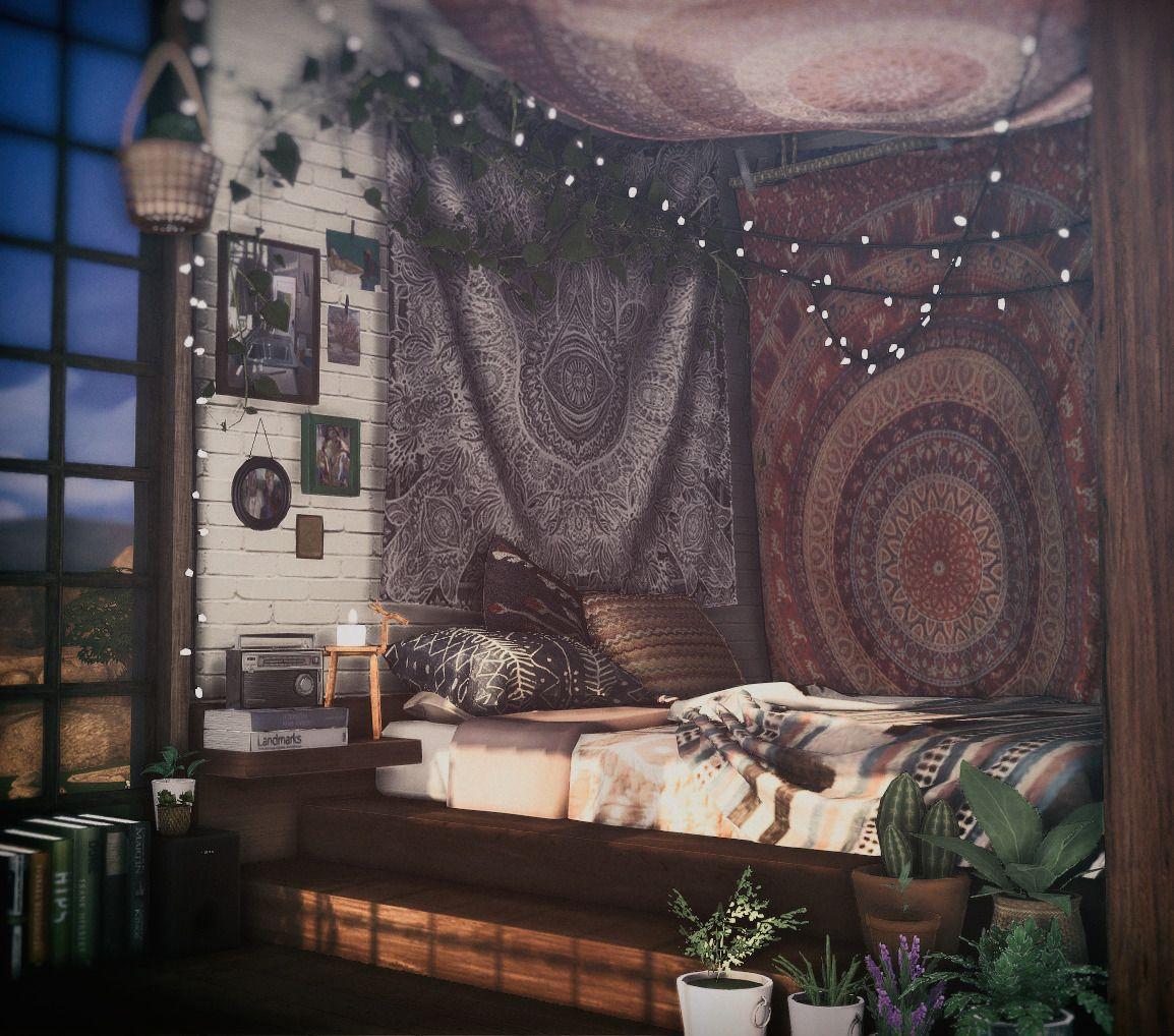 sims4 interior 저장하기 Sims 4 bedroom, Sims house, Sims