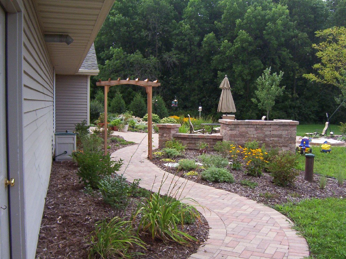 Amplify The Brick Paver Walkway To The Back Entertainment