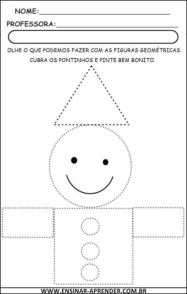 Atividades De Figuras Geometricas Cantinho Do Educador Infantil