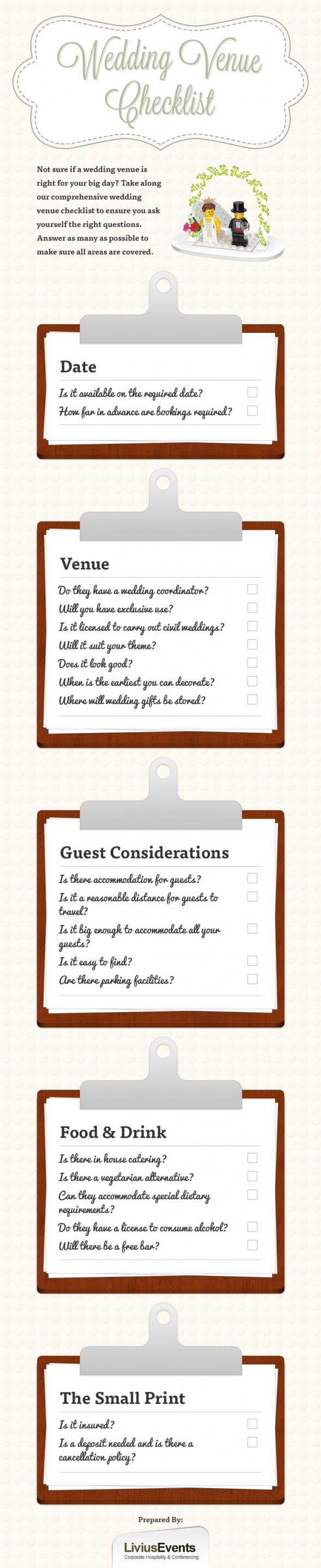 Wedding Venue Checklist