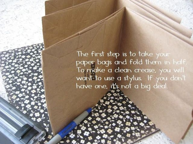 Jessica Rodarte: paper bag scrapbook album tutorial. Use white paper bags for a dressier look if you're not covering with cardstock.