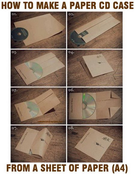 How To Make A CD Case Out Of Paper Easy DIY | DIY - Tips ...