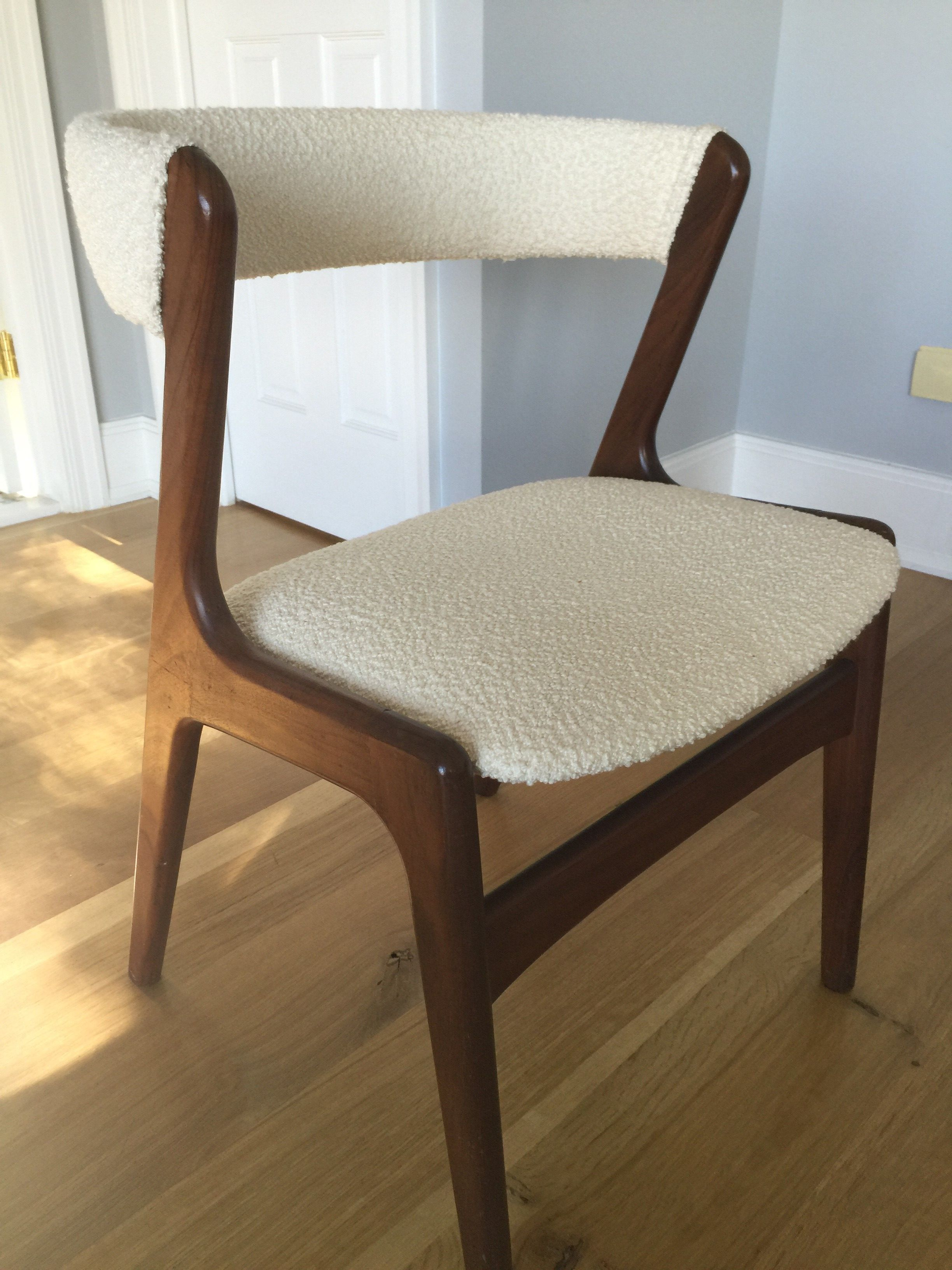 Awesome Kai Kristiansen Chair Reupholstered With Rogers Goffigon Spiritservingveterans Wood Chair Design Ideas Spiritservingveteransorg